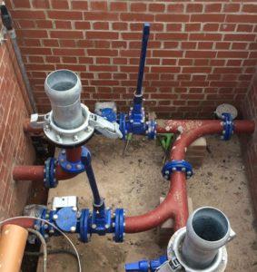 Sewage pumping station in Farnham, UK